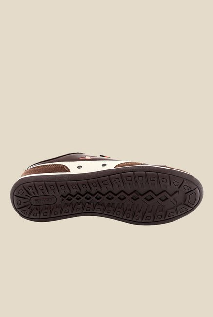 Sparx Brown & White Casual Shoes
