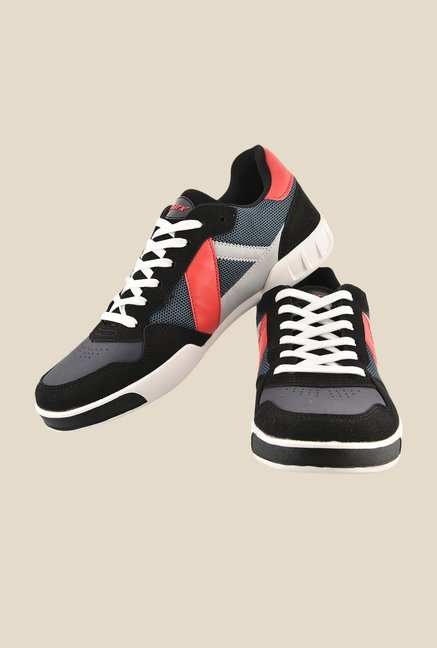 Sparx Black & Red Casual Shoes