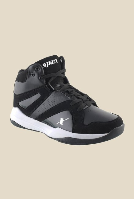 Sparx Black & Grey Running Shoes