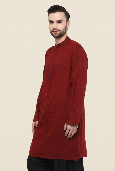 Yepme Chris Maroon Solid Kurta