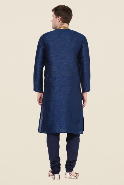 Yepme Navy Embroidered Kurta