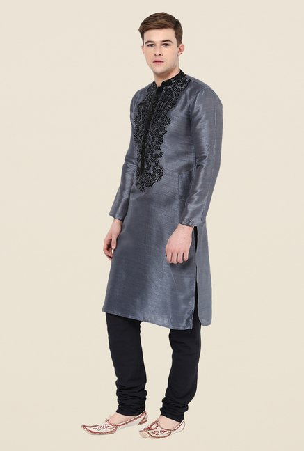 Yepme Grey Embroidered Kurta