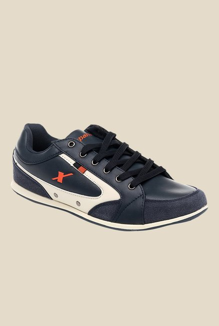 Sparx Navy & White Casual Shoes