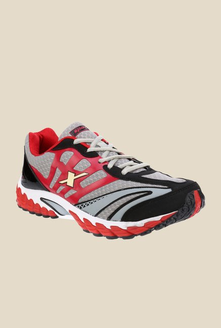 Sparx Grey & Red Running Shoes