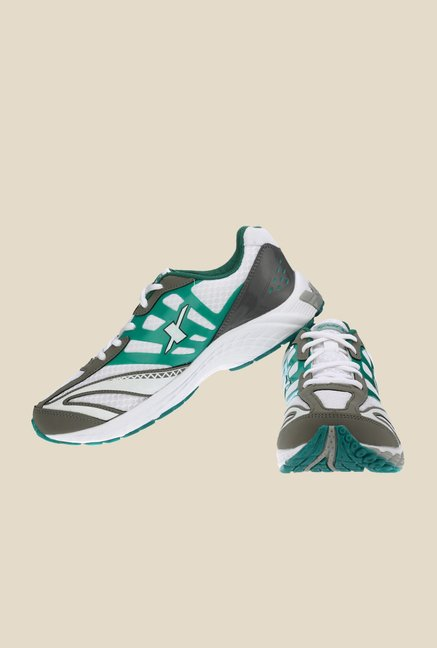 Sparx White & Green Running Shoes