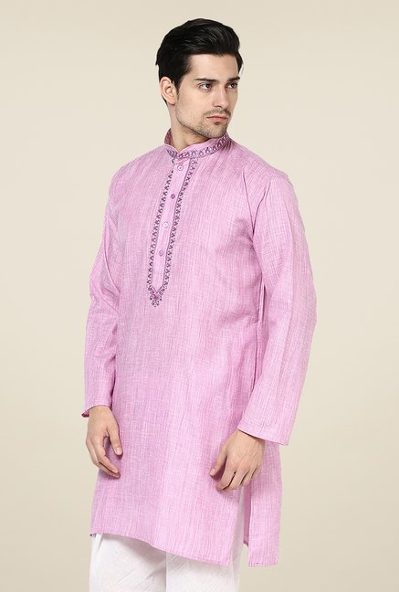 Yepme Inigo Purple Solid Kurta