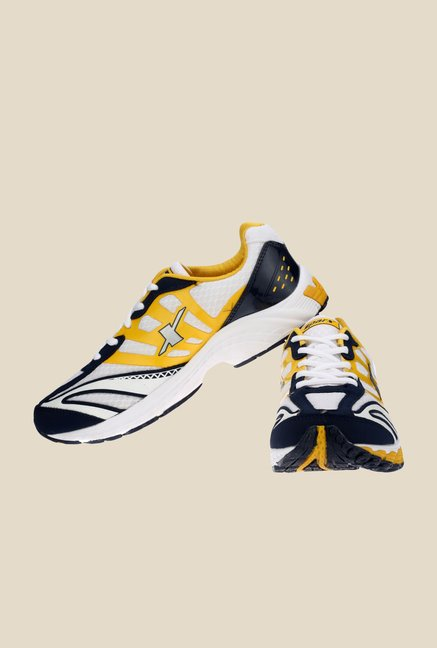 Sparx White & Yellow Running Shoes