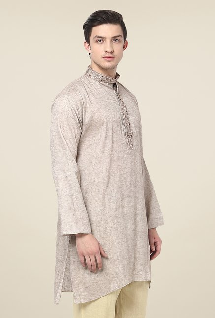 Yepme Efrain Brown Solid Kurta