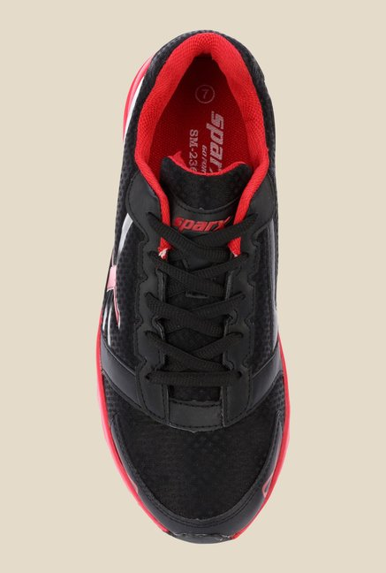 Sparx Black & Red Running Shoes
