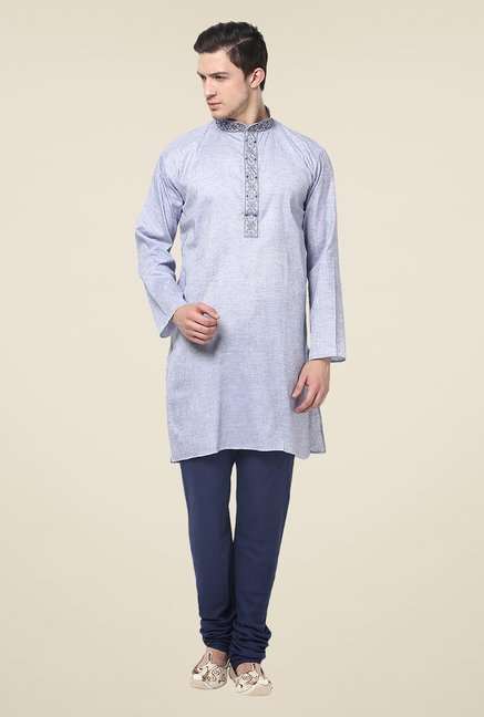 Yepme Efrain Light Blue Solid Kurta