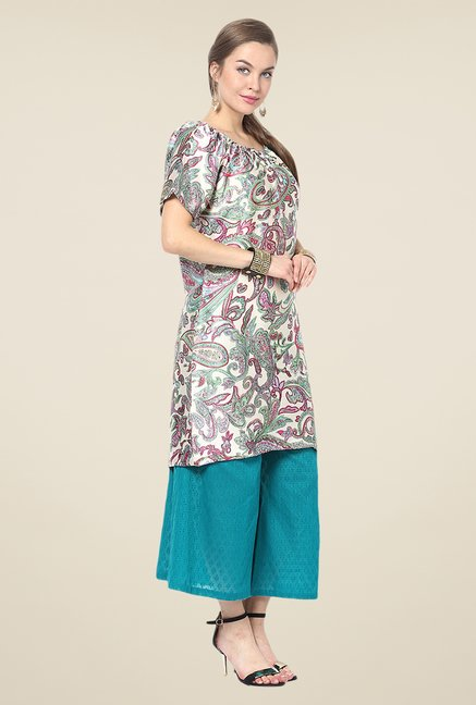 Yepme Multicolor Rochella Flared Kurti