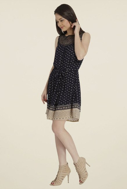 Only Navy Printed Dress