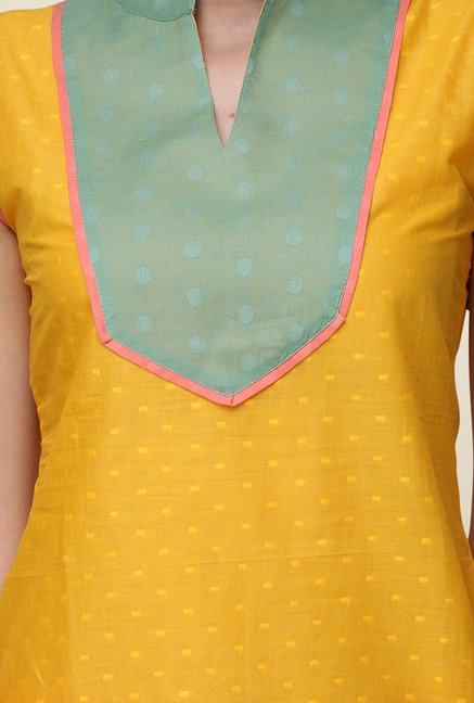 Yepme Yellow Wendy Printed Kurti