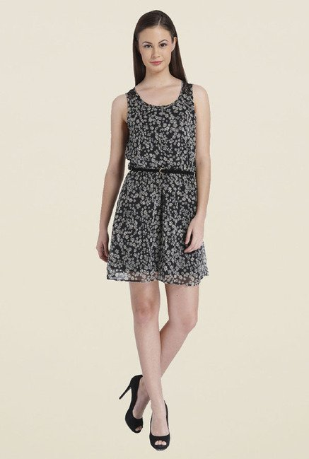 Only Black Floral Print Dress