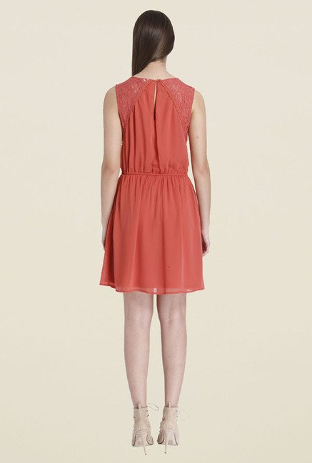 Only Coral Lace Dress
