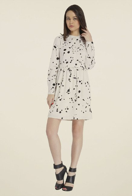 Only White Printed Dress