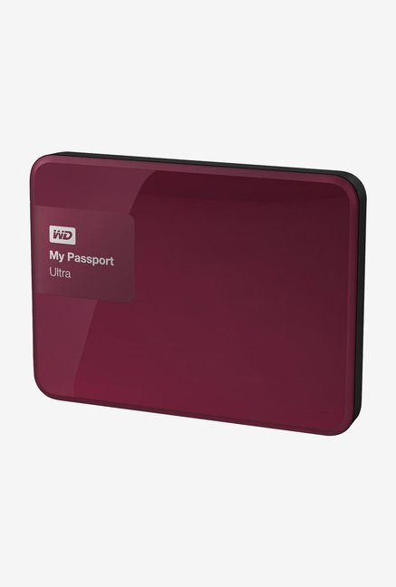 WD My Passport Ultra 1 TB External Hard Disk (Wild Berry)