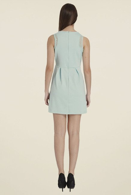 Only Sky Blue Solid Dress