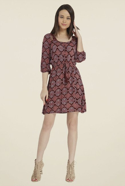Only Brown Printed Dress
