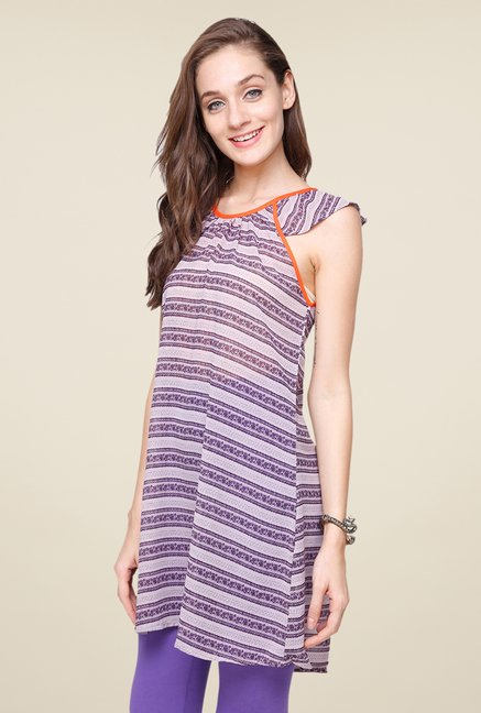 Yepme Purple Aubey Stripes Kurti