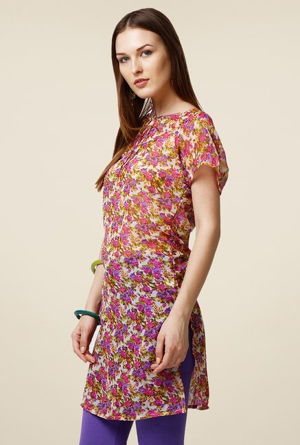 Yepme Multicolor Floral Kendell Tie-Up Kurti