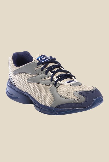 Sparx Grey & Navy Running Shoes