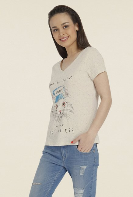 Only White Graphic T-shirt