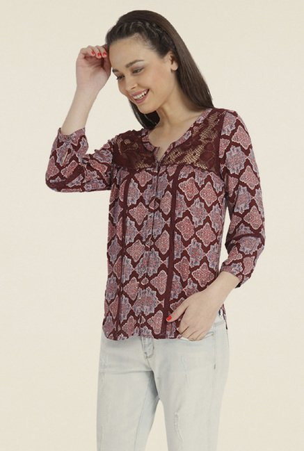 Only Purple Printed Top