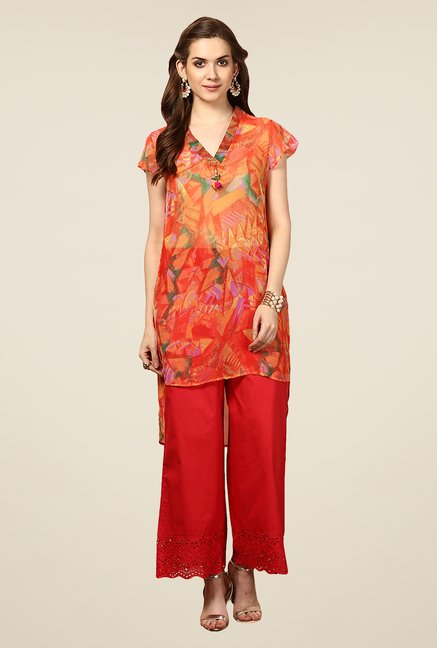 Yepme Orange Abrila Asymmetrical Kurti