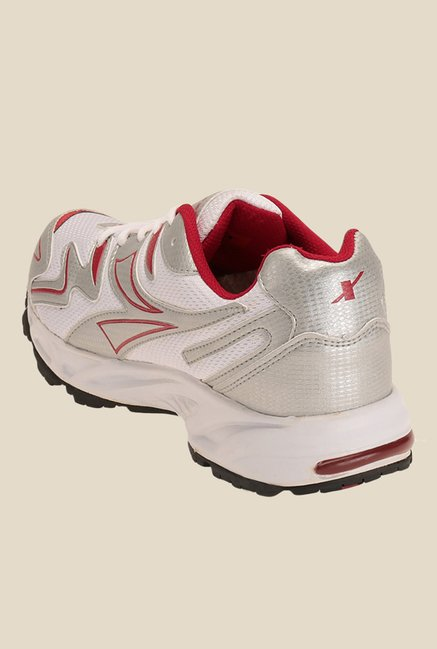 Sparx Silver & Red Running Shoes