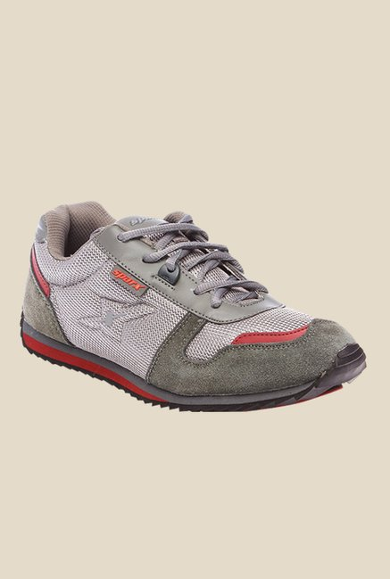 Sparx Grey & Silver Running Shoes