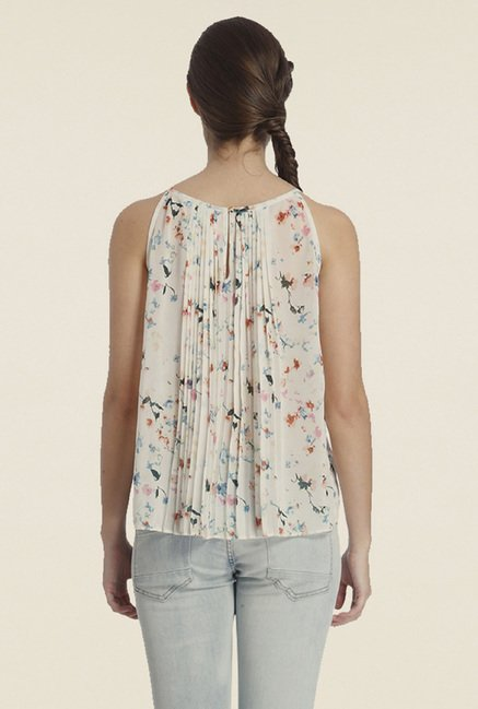 Only White Floral Top