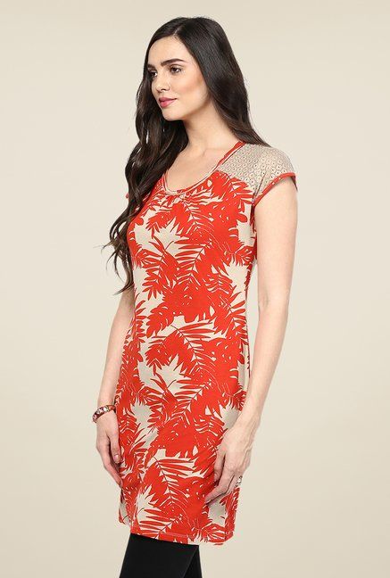 Yepme Red Printed Tunic