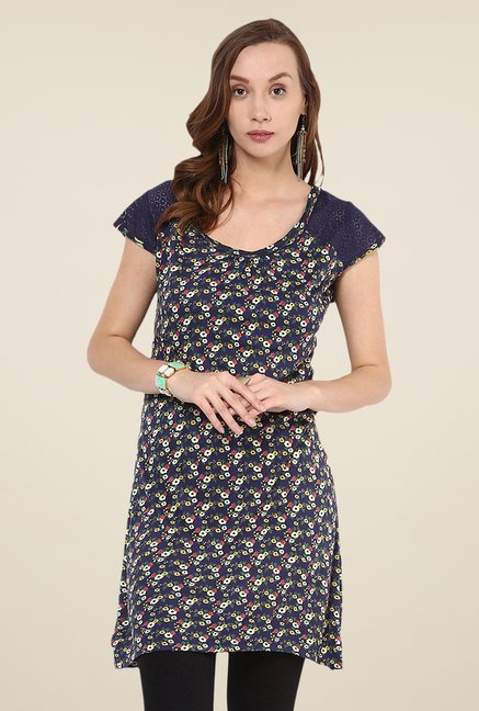 Yepme Navy Printed Tunic