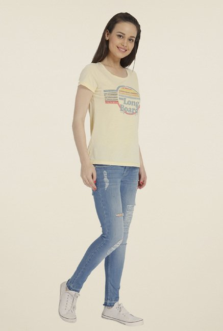Only Yellow Graphic T-shirt