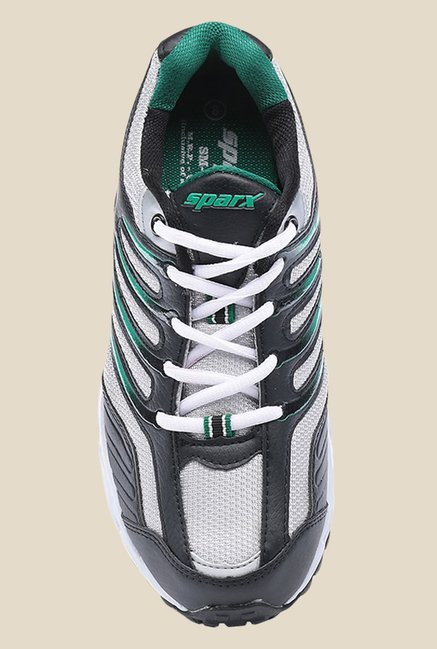 Sparx Black & Green Running Shoes