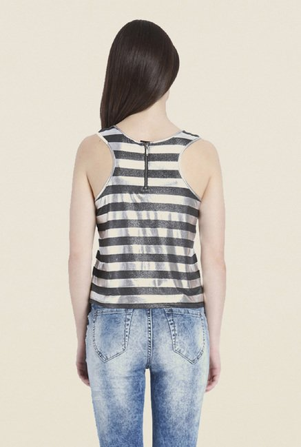 Only Silver Stripes Top