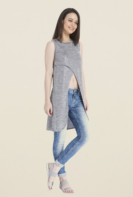 Only Grey Solid Top