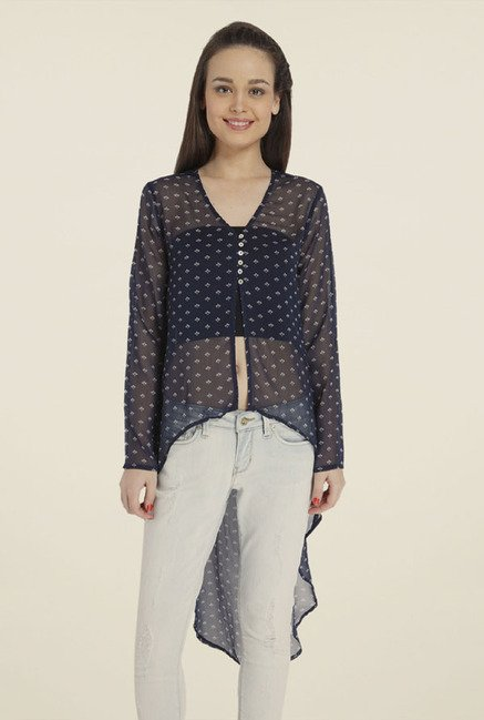 Only Navy Printed Top