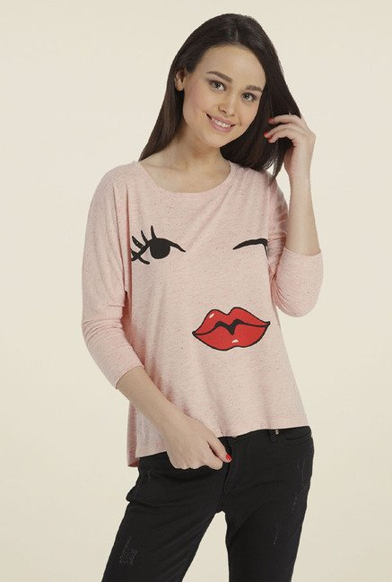 Only Pink Printed T-shirt