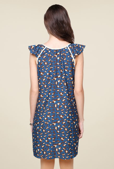 Yepme Navy Aubey Animal Print Kurti