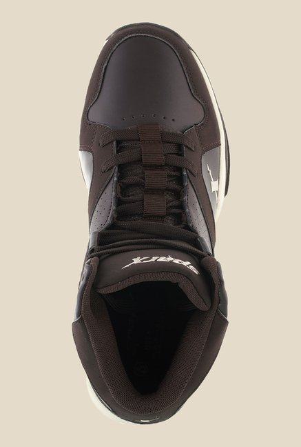 Sparx Brown & Beige Running Shoes