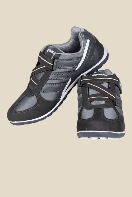 Sparx Black & Silver Running Shoes