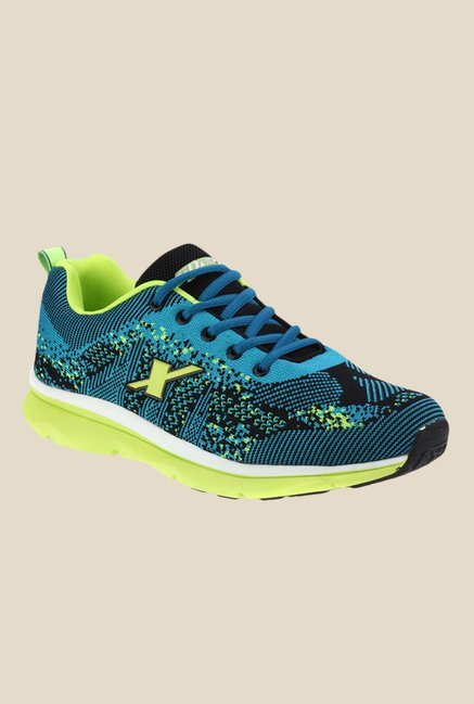 Sparx Blue & Green Running Shoes