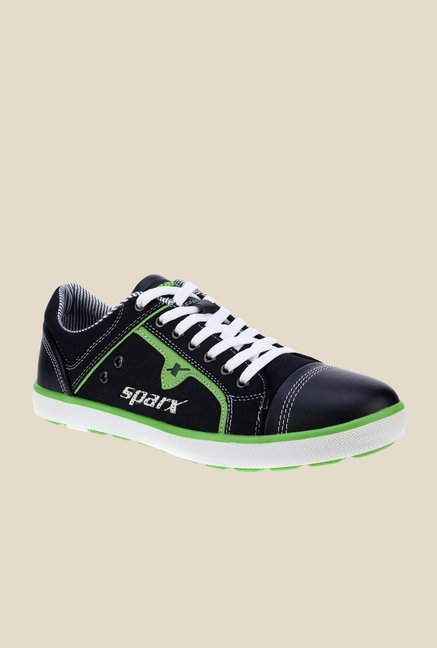 Sparx Navy & Green Running Shoes