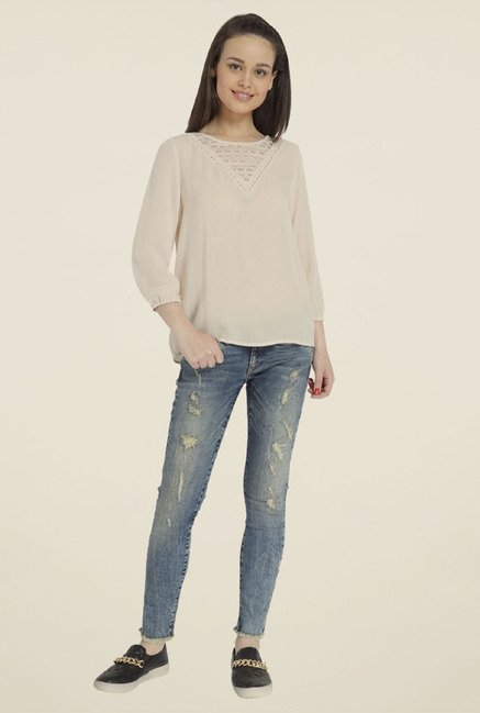 Only Cream Solid Top