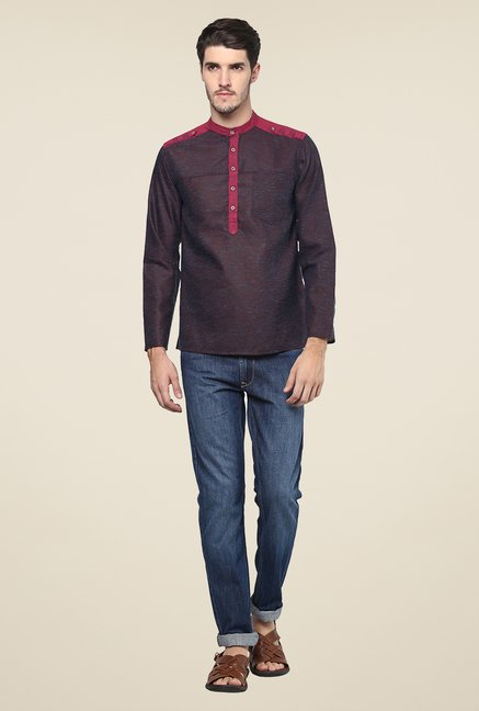 Yepme Brown Solid Kurta Shirt