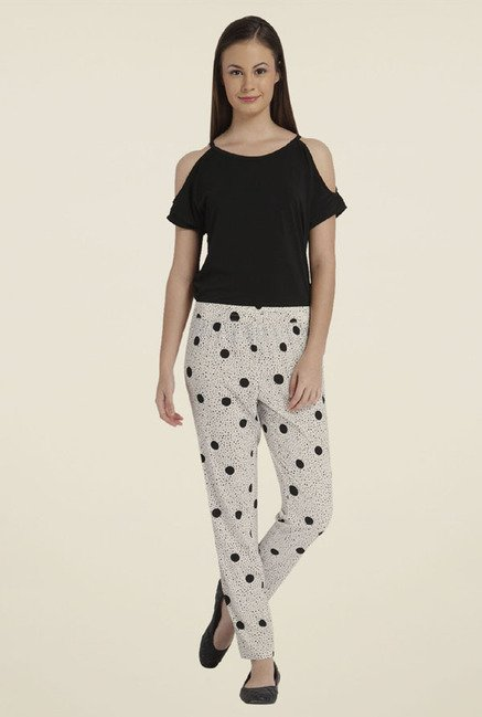 Only White Polka Dot Trackpants