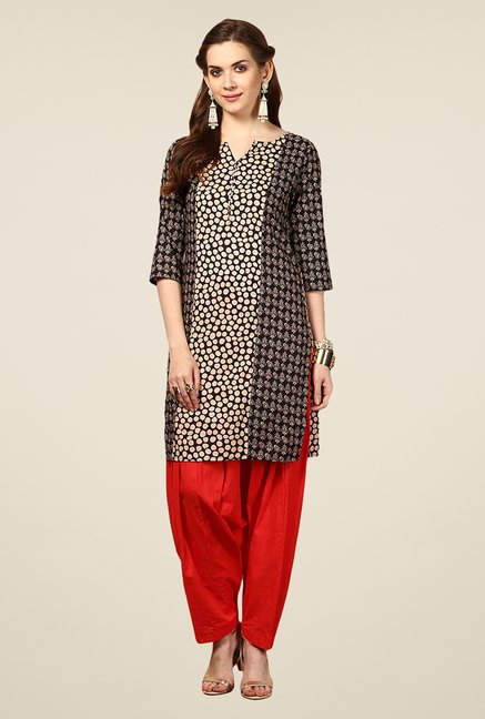 Yepme Multicolor Sara Printed 3/4th Sleeves Kurti