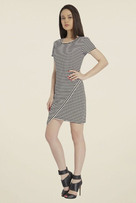 Only Black & White Striped Dress